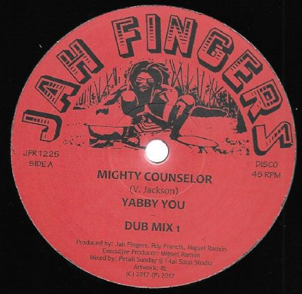 Yabby You - Mighty Counselor /Dub Mix 1/ All Stars - Dub Mix 2 / Instrumental (Jah Fingers) 12""